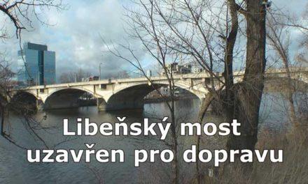 Libeňský most uzavřen pro dopravu