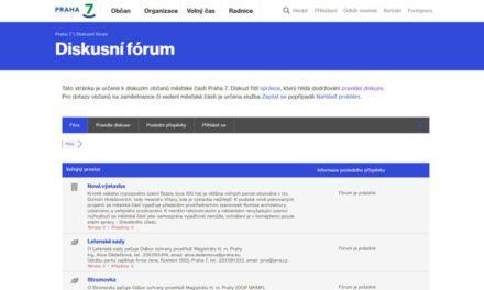 Nové stránky radnice přívětivostí k diskusi s občany nehýří