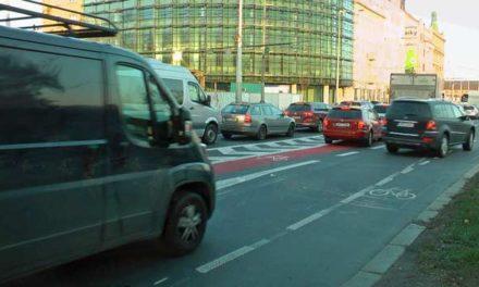 Nebezpečné cyklopruhy v Praze 7